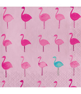 Elsie Tropical Luncheon Napkin Lets Flamingle