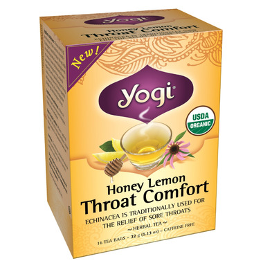 Yogi Tea Honey Lemon Throat Comfort Tea