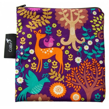 Colibri Reusable Snack Bag Large in Purple Forest
