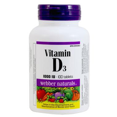Webber Naturals Vitamin D3 Tablets