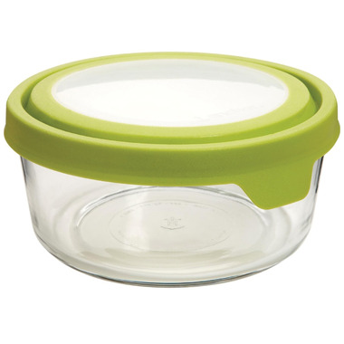 Anchor TrueSeal 4 Cup Round Storage Container with Green Lid