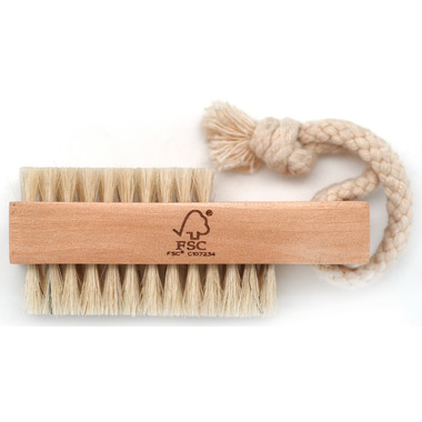 Basicare Wooden Nail Brush with Natural Bristles
