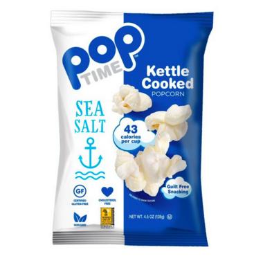 Pop Time Sea Salt Kettle Cooked Popcorn