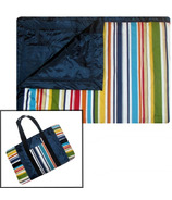 Tuffo Water Resistant Outdoor Blanket Multi-Colour Stripe