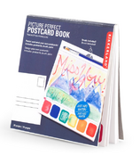 Kikkerland Paint-Your-Own Postcard Book