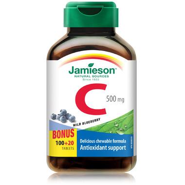 Jamieson Vitamin C Chewable - Wild Blueberry Bonus Pack