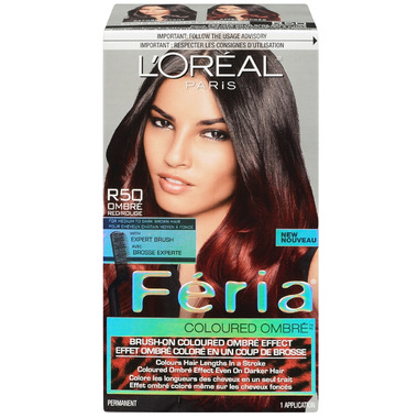 L\'Oreal Feria Coloured Ombre R50 Red for Medium to Dark Brown Hair