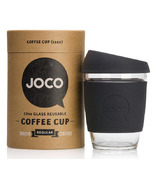 JOCO Glass Reusable Coffee Cup in Black