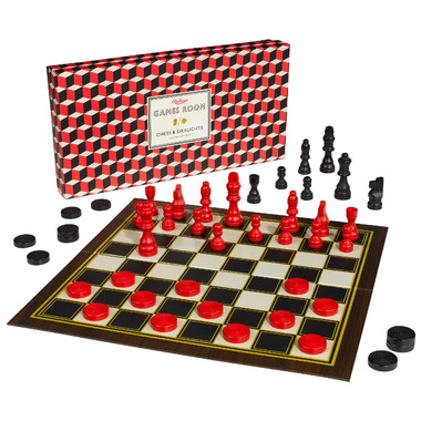 Ridley\'s Games Room Chess and Checkers Set