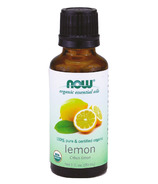 NOW Essential Oils Organic Lemon Oil
