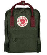 Fjallraven Kanken Mini Backpack Forest Green & Ox Red