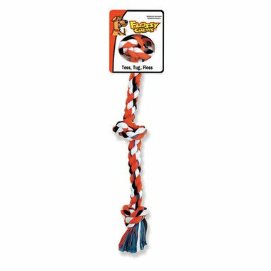 Mammoth X-Large 36 Inch Cotton Blend Color 3 Knot Rope Tug