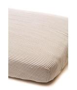 Little Unicorn Cotton Muslin Fitted Sheet Grey Stripe