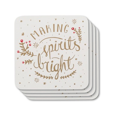 Now Designs Making Spirits Bright Cork-backed Coasters