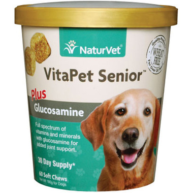 Naturvet VitaPet Senior Plus Glucosamine Soft Chews