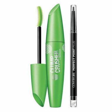 CoverGirl Clump Crusher Mascara & Perfect Point Plus Eyeliner Very Black