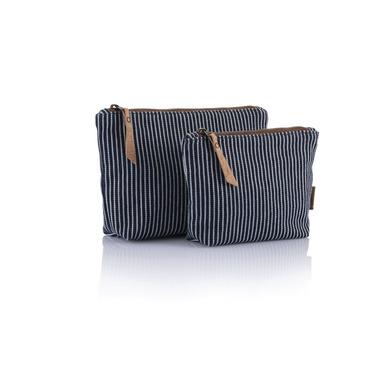 bambu Organic Cotton Stripe Zip Pouch Small
