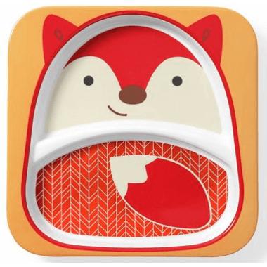 Skip Hop Zoo Divided Plate Fox