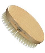 Kent Oval Beechwood Brush with White Bristles