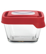 Anchor TrueSeal 1 7/8 Cup Rectangular Storage Container with Red Lid