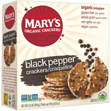 Mary\'s Organic Crackers Black Pepper Crackers