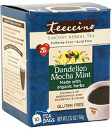 Teeccino Dandelion Mocha Mint Chicory Herbal Tea
