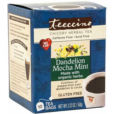Teeccino Dandelion Mocha Mint Chicory Herbal Tea