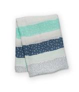 Lulujo Bamboo Swaddling Wrap Grey Spotted Stripe