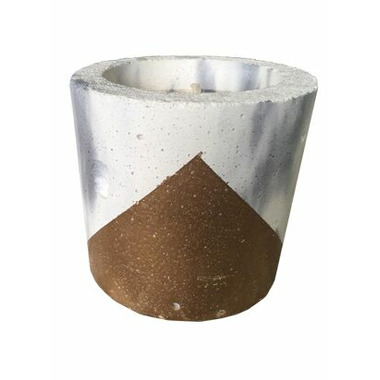 Wax + Fire Co.Soy Candle in Marble with Copper Concrete Planter