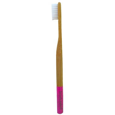 Brush Naked Bamboo Kids Toothbrush Soft Pink
