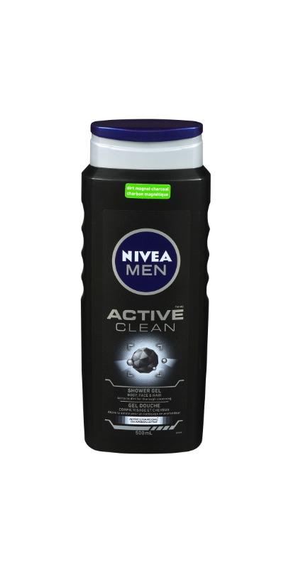 Nivea Men Active Clean Shower Gel Body, Face & Hair