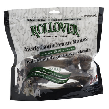 Rollover Premium Dog Treats Meaty Lamb Femur Bones
