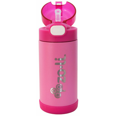 Zoli POW Squeak Double Walled Insulated Stainless Steel Bottle Pink