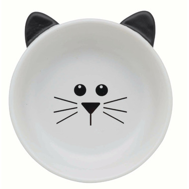 Ore\' Pet Fluffy the Cat Bowl White