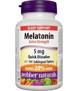 Webber Naturals Melatonin Extra Strength Tablets Bonus Size