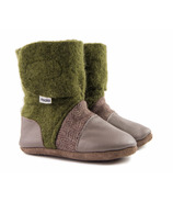 Nooks Design Felted Wool Booties Forest