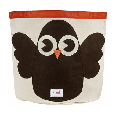 3 Sprouts Storage Bin Brown Owl