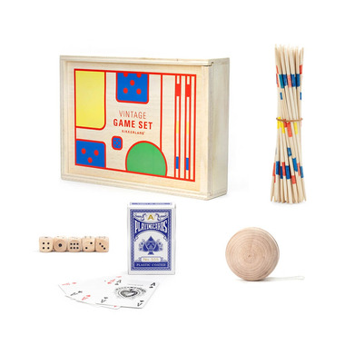 Kikkerland Vintage Game Set
