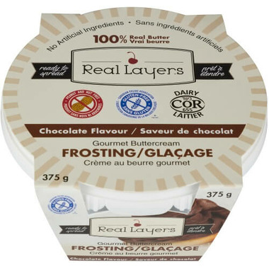 Real Layers Gourmet Buttercream Frosting Chocolate Flavour
