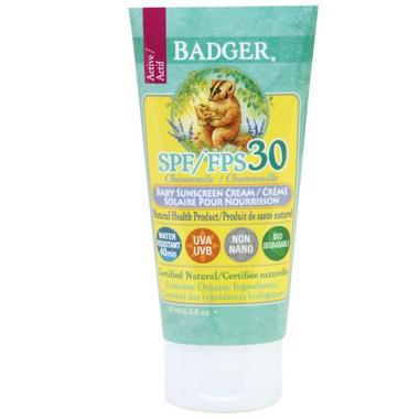 Badger SPF 30 Chamomile Baby Sunscreen Cream