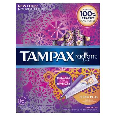 Tampax Radiant Tampons Super Plus