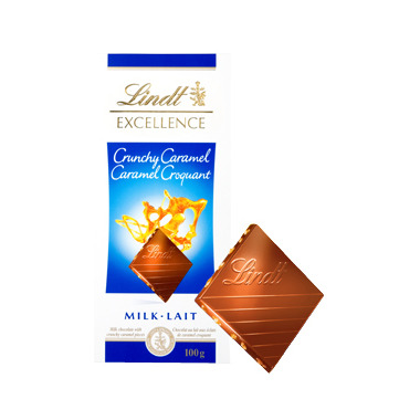 Lindt Excellence Crunchy Caramel Milk Chocolate Bar