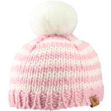 Bedford Road Pink Knitted Hat Pom Pom