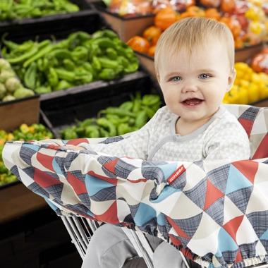 Skip Hop Take Cover Shopping Cart & High Chair Cover Triangles