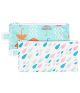 Bumkins Reusable Snack Bag Small Rain & Umbrella