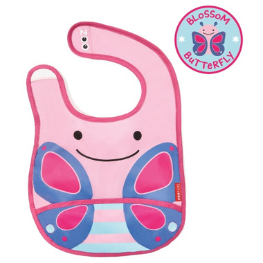 Skip Hop Zoo Bibs Tuck-Away Bib Butterfly