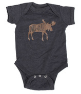 Little Orchard Co. Wild at Heart Onesie Heathered Navy