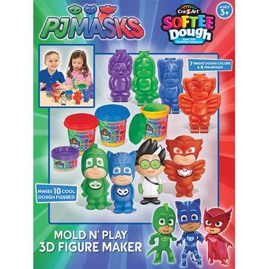 Cra-Z-Art PJ Masks 3D Mold N Play Softee Dough Figure Maker