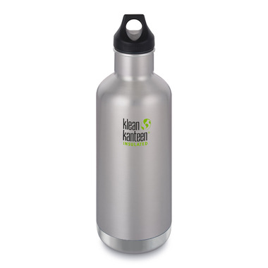 Klean Kanteen Insulated Classic Bottle with Loop Cap Brushed Stainless