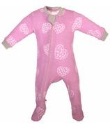 ZippyJamz Organic Cotton Footed Sleeper Heart Breaker Pink